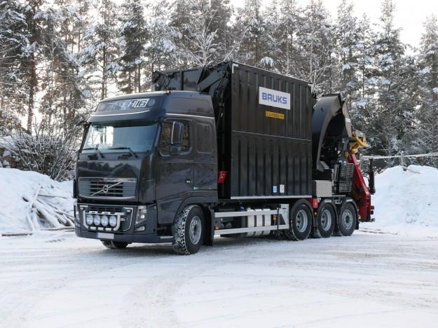BRUKS flishugg på Volvo FH16