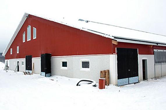 Storslaget nybygge på gården i IngesArven.
