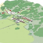 En översikt över Lövsta forskningscentrum. Här finns tillgång till över 50 hektar betesmark som ska användas för betesstudier.