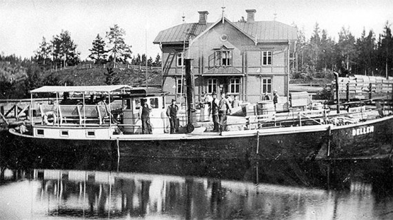 Passagerarfartyget Dellen med hemmahamn i Moviken, norra Dellen, Hälsingland.
