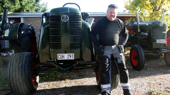 Bertil Olsson drömmer om att kunna arrangera en traktorpulling-tävling på hemmaplan.