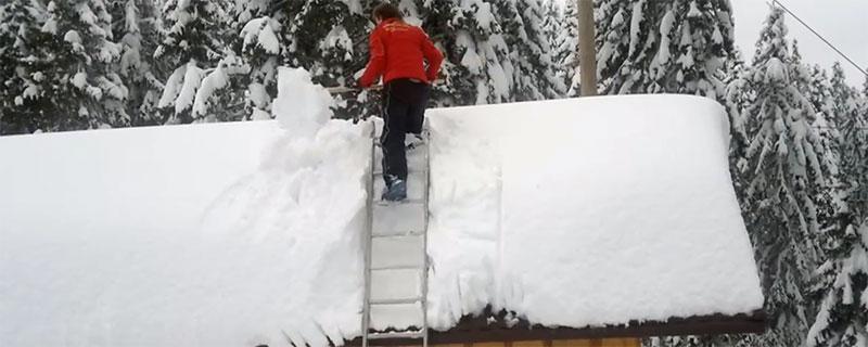 Snabbrensat på taket