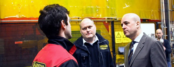 Fredrik Reinfeldt besökte Väderstad-Verken