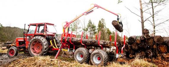 Vagn med drivning till gammeltraktorn
