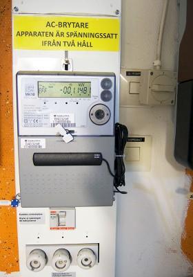 Står det minus på elmätaren så betyder det att huset producerar mer el än vad det gör av med.