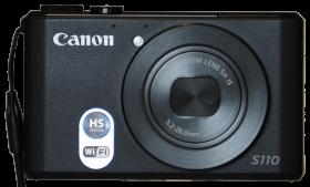 Canon S110 Zoomomfång: 24 - 120 mm (Motsvarar 35 mm kamera), Bländare: 2,0 – 5,9 Megapixlar: 12