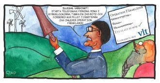 Satirtecknare ger sin bild av vargläget