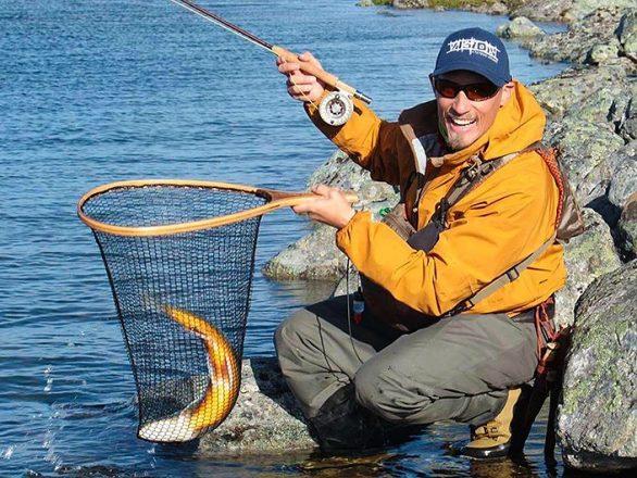 Fiske 20 mil norr om polcirkeln