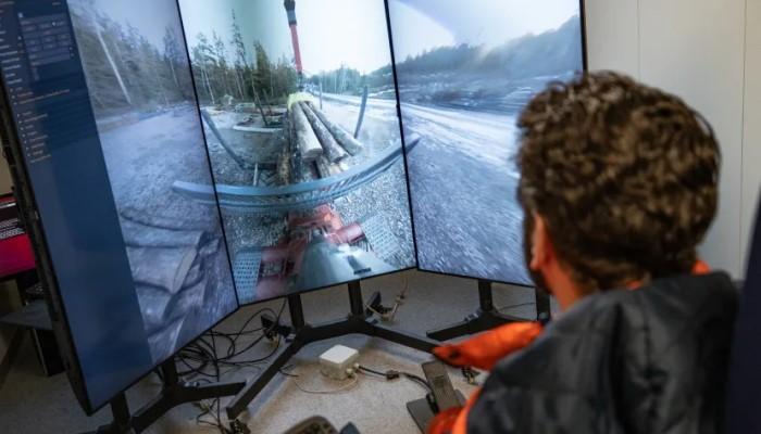 Testar 5G-teknik till fjärrstyrda skogsmaskiner